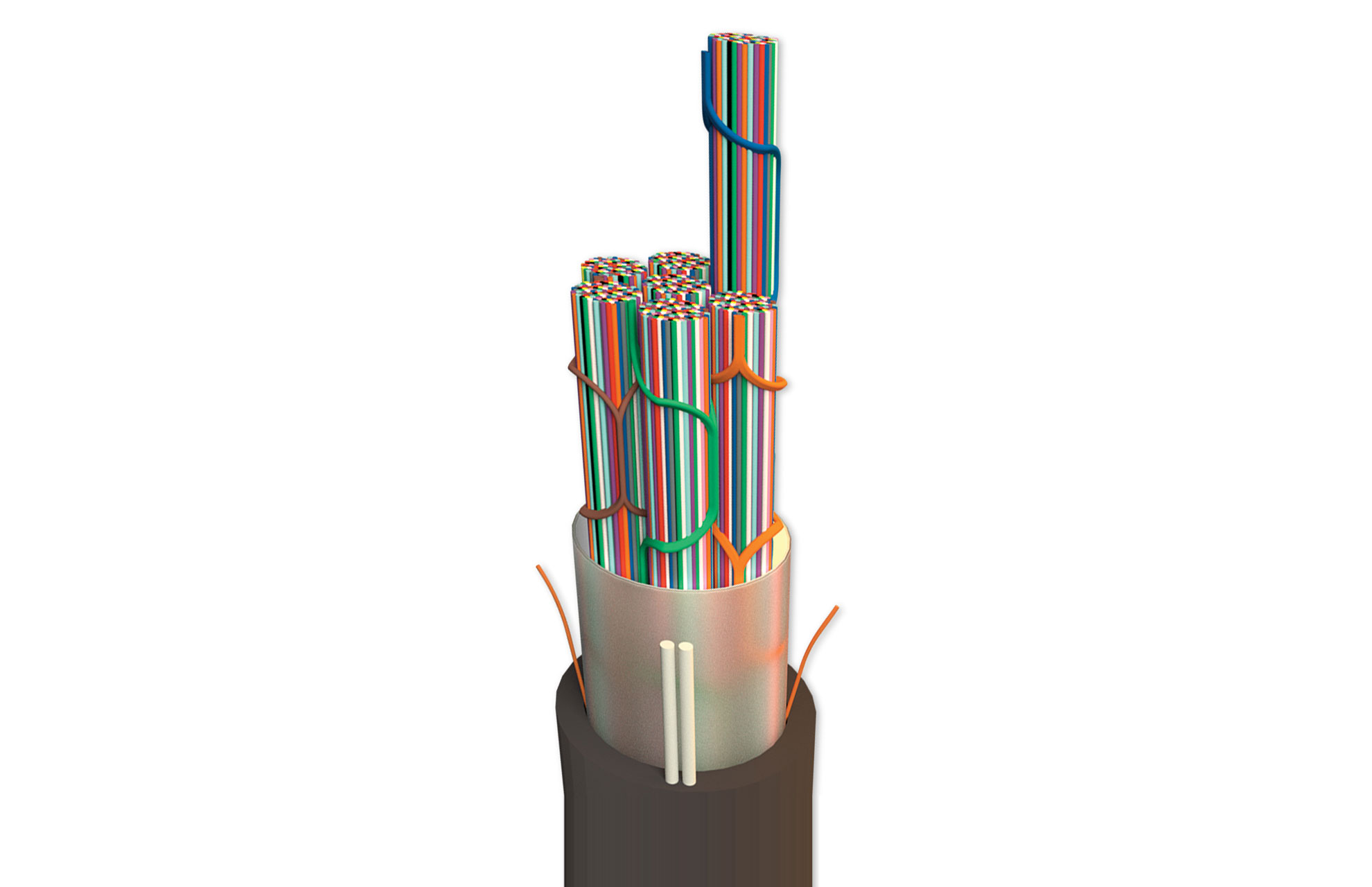 Wrapping-Tube-Cable-(WTC)-with-SpiderWeb-Ribbon-(SWR)